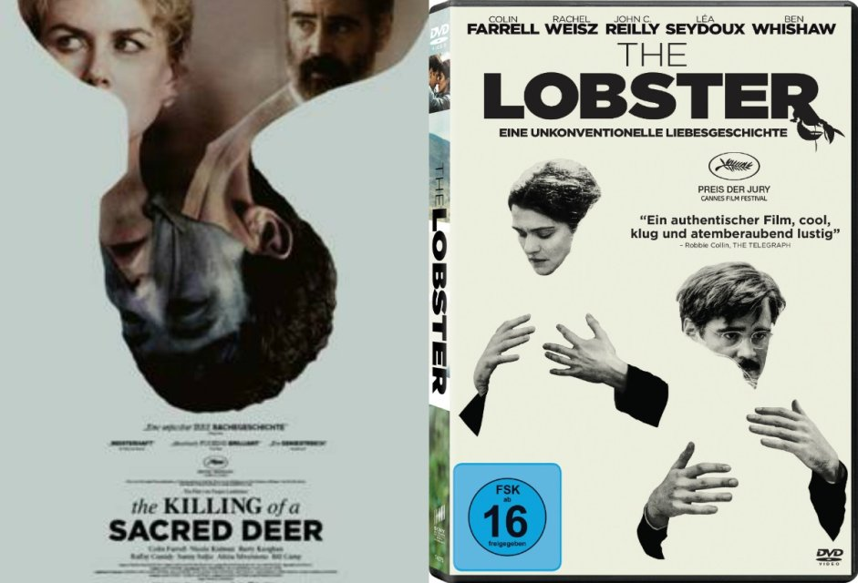 """The Killing Of A Sacred Deer"" und ""The Lobster"": Filmposter und DVDs zu gewinnen"
