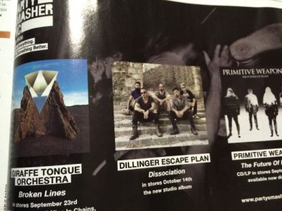 Werbung Dillinger Escape Plan Dissociation